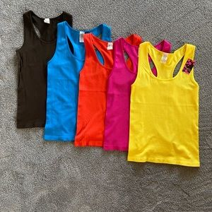 Sofra-Lot of 5 NWT Racerback Ribbed Tank Top.